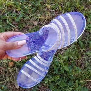 💗ARRIVED 💗 CLEAR BLUE FLAT SANDALS